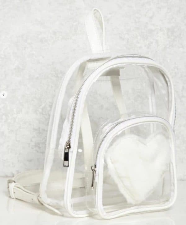 Fuzzy Heart Backpack