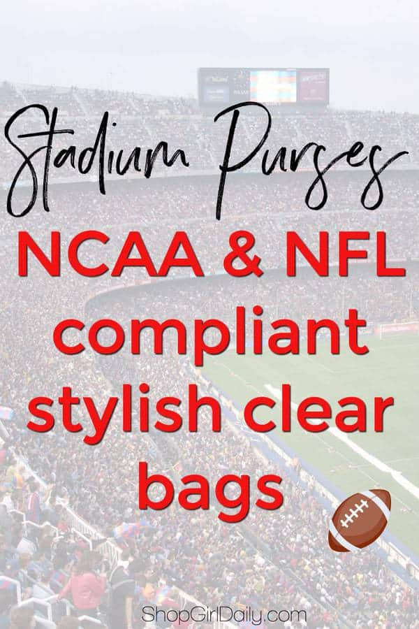 Stadium Purses: NFL & NCAA Compliant Clear Bags | ShopGirlDaily.com