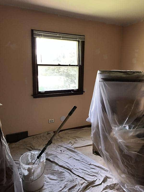 Painting the pink room
