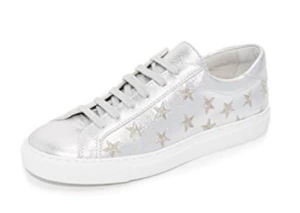 Stars Leather Lace Up Sneakers