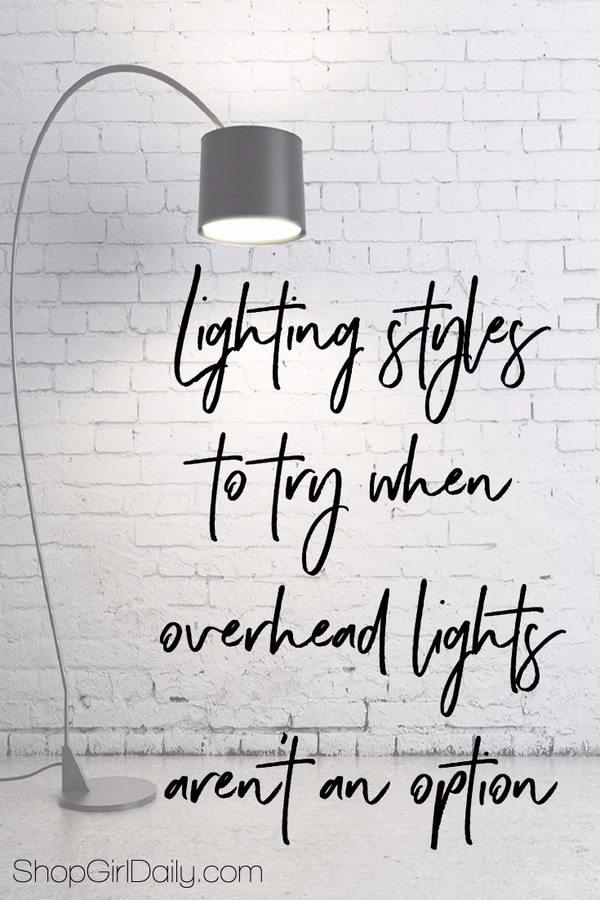 No ceiling lights: Alternatives to brighten any room | ShopGirlDaily.com