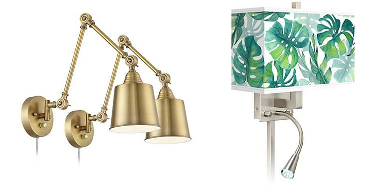 Lamps Plus Plug-In Wall Sconces