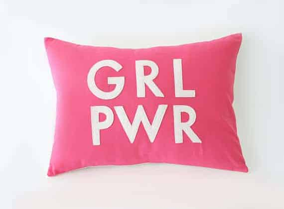 GRL PWR Pillow