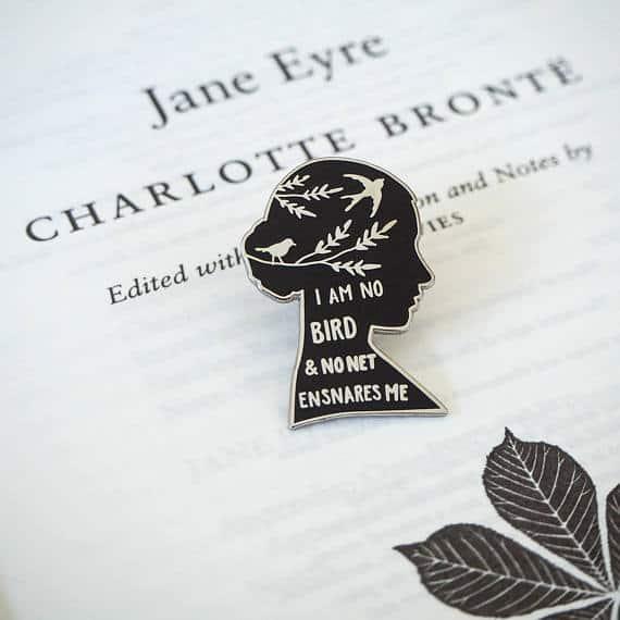 Feminist Gift Ideas: Charlotte Bronte Janey Eyre Pin