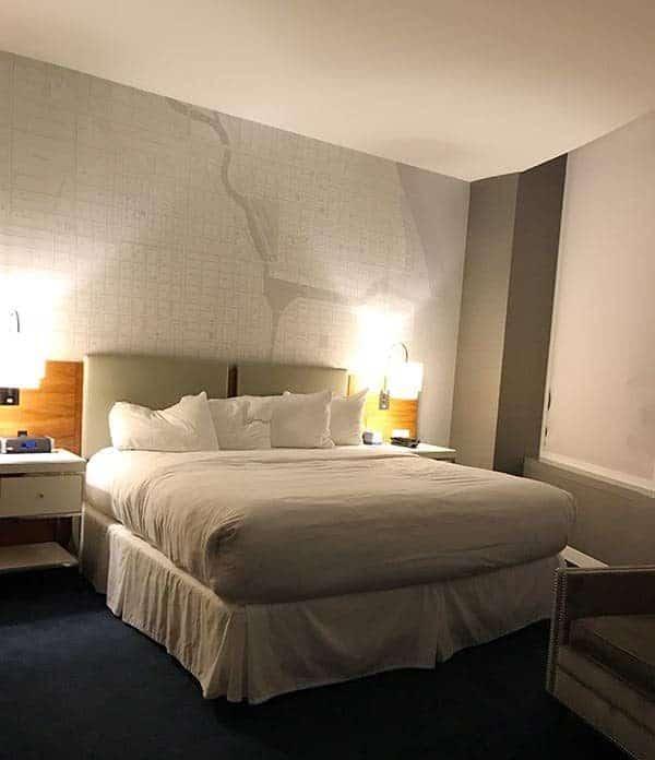 Bedroom at Kinzie Hotel