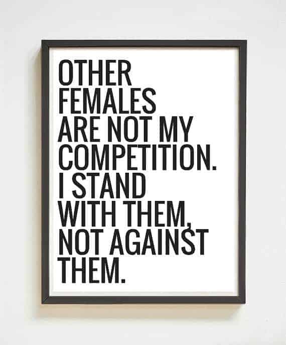 Other females are not my competition poster