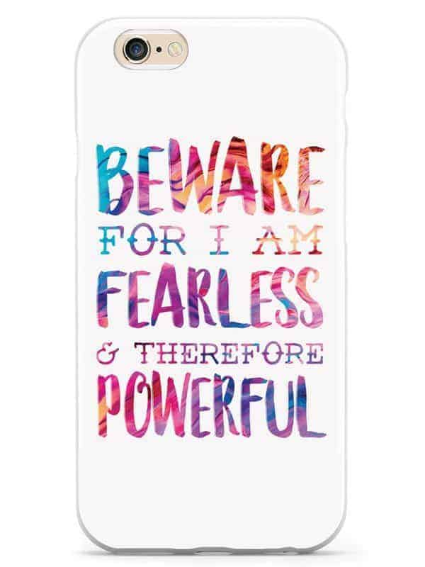 Feminist Gift Ideas: Fearless Phone Case