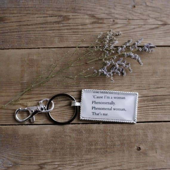 Feminist Gift Ideas: Maya Angelou Quote Keychain