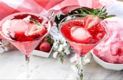 Strawberry Cotton Candy Mocktail