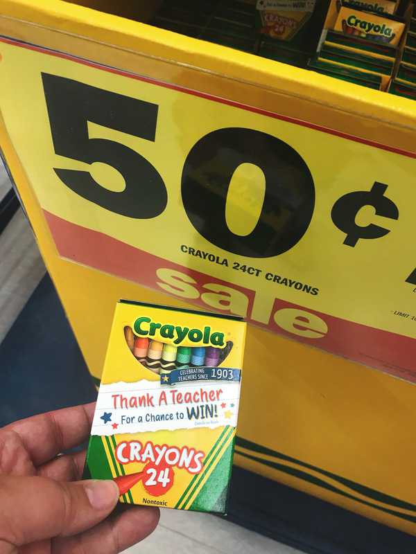 Crayons on sale at Meijer