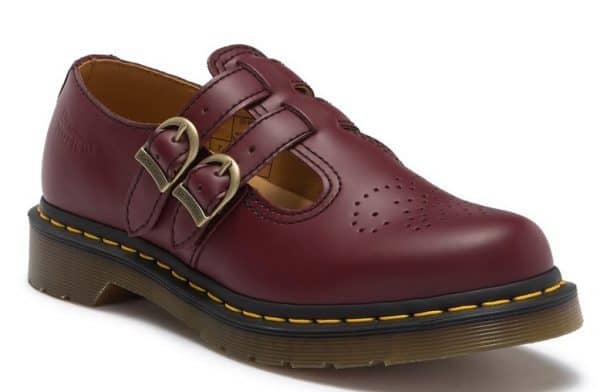 Dr. Martens red Mary Janes