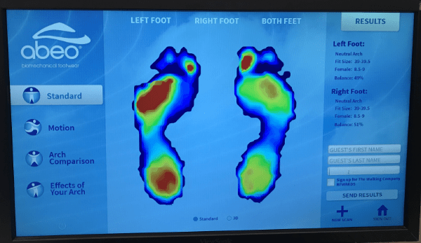 Foot scan from ABEO