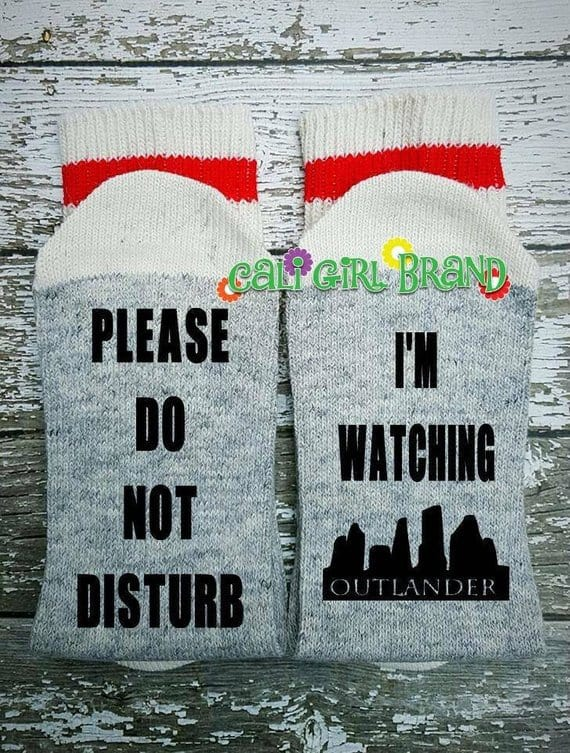Outlander gift ideas: outlander socks