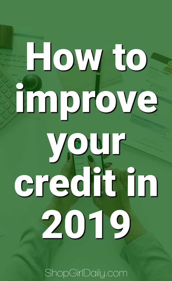 Guide to improving your credit in 2019