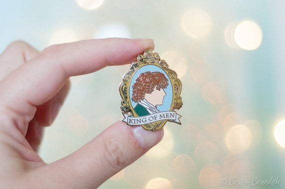Outlander Gifts: King of Men Enamel Pin